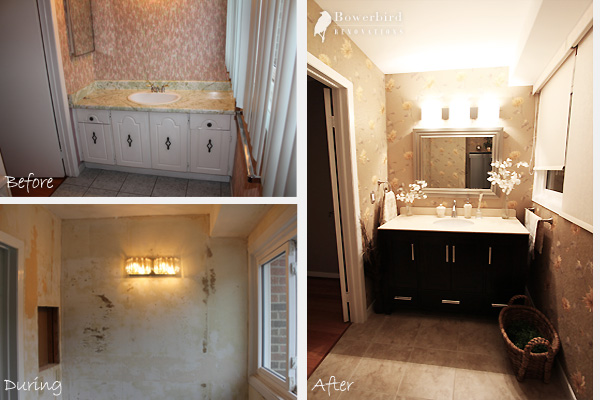 Bathroom Renovations In Toronto Before And After Photos Of Powder - Bathroom remodeling toronto