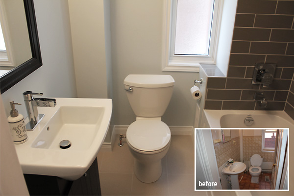 Bathroom Renovation Toronto project Before During and After