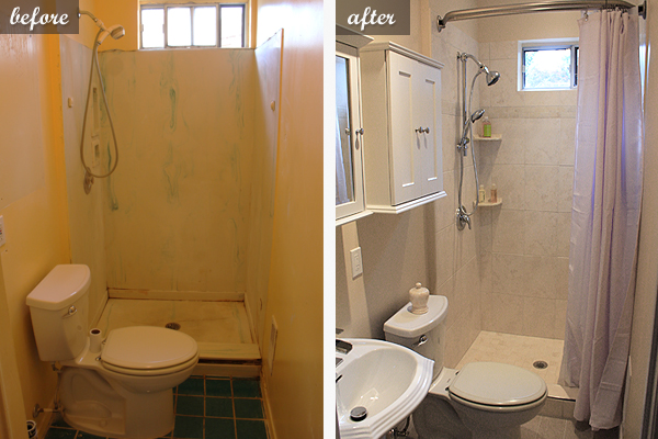 Small bathroom renovation in toronto pictures of a for Bathroom renovation before and after