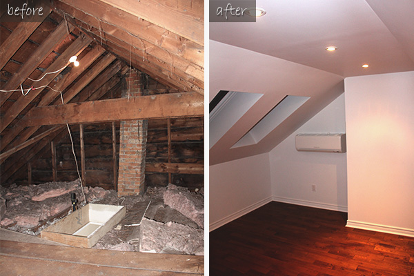 Attic Remodeling In Downtown Toronto Creating An Office