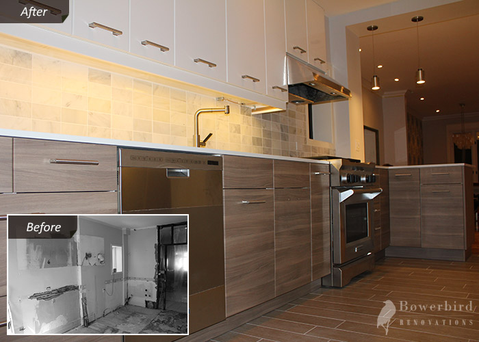 Kitchen Remodeling And Renovation In Toronto Bowerbird Renovations - Pictures of kitchen remodels before and after
