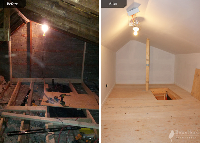 Attic Conversion To Storage By Bowerbird Renovations