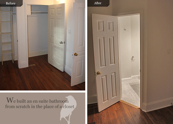 Before And After Pictures For En Suite Bathroom Addition From Scratch In Toronto