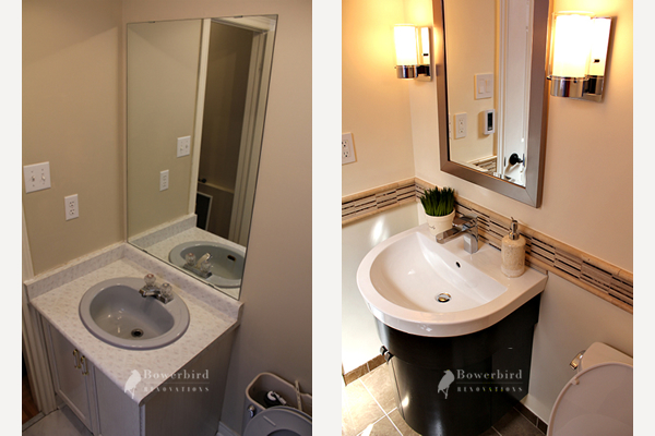powder room renovation before and after toronto bathroom contractor - Bathroom Remodel Toronto