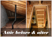 attic before and after renovation toronto