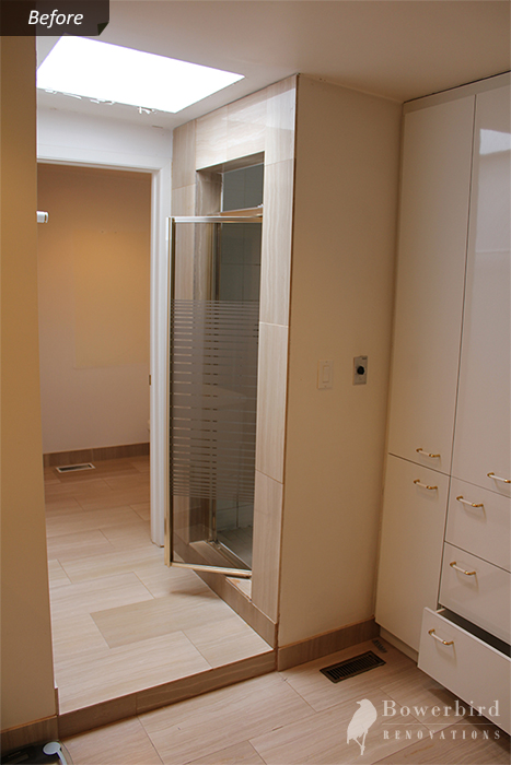 Bathroom Renovation Before picture - beautiful and spacious shower to be created here